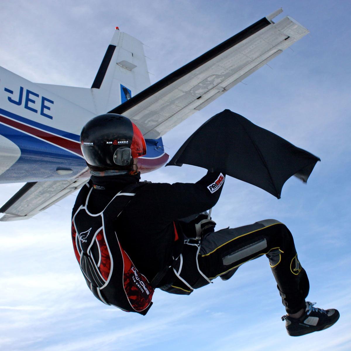 Senz umbrella-skydive-challenge