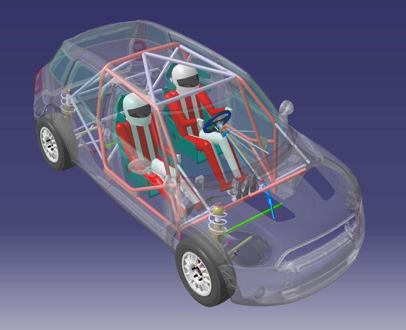 MINI-WRC-rollcage layour