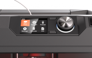 While you can drive the machine from the desktop software, the on-machine controls, with dial, buttons and LCD display give you ultimate control and access to maintenance