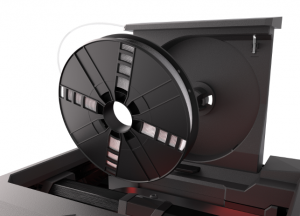 Makerbot's Replicator range now features an integrated spool holder and feed mechanism