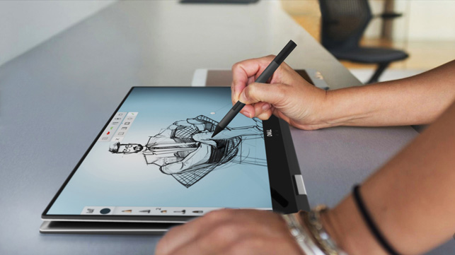 Dell Precision 5530 2-in-1 sketching designs flat