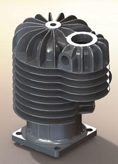 Monoplane engine