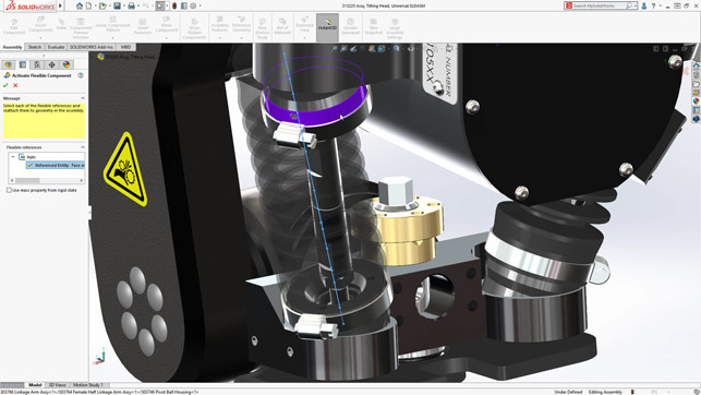 Solidworks 2020 review fleixible part screenshot