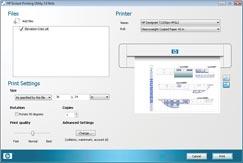 HP T1200 Printing