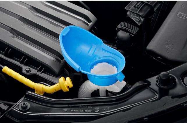 Škoda Scala filler cap with integrated funnel