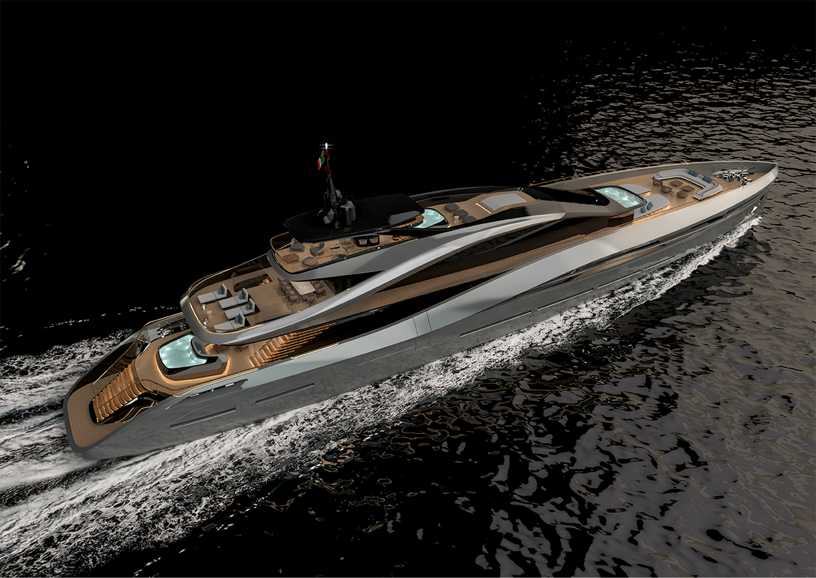 Design of Rossinavi Pininfarina 65mt