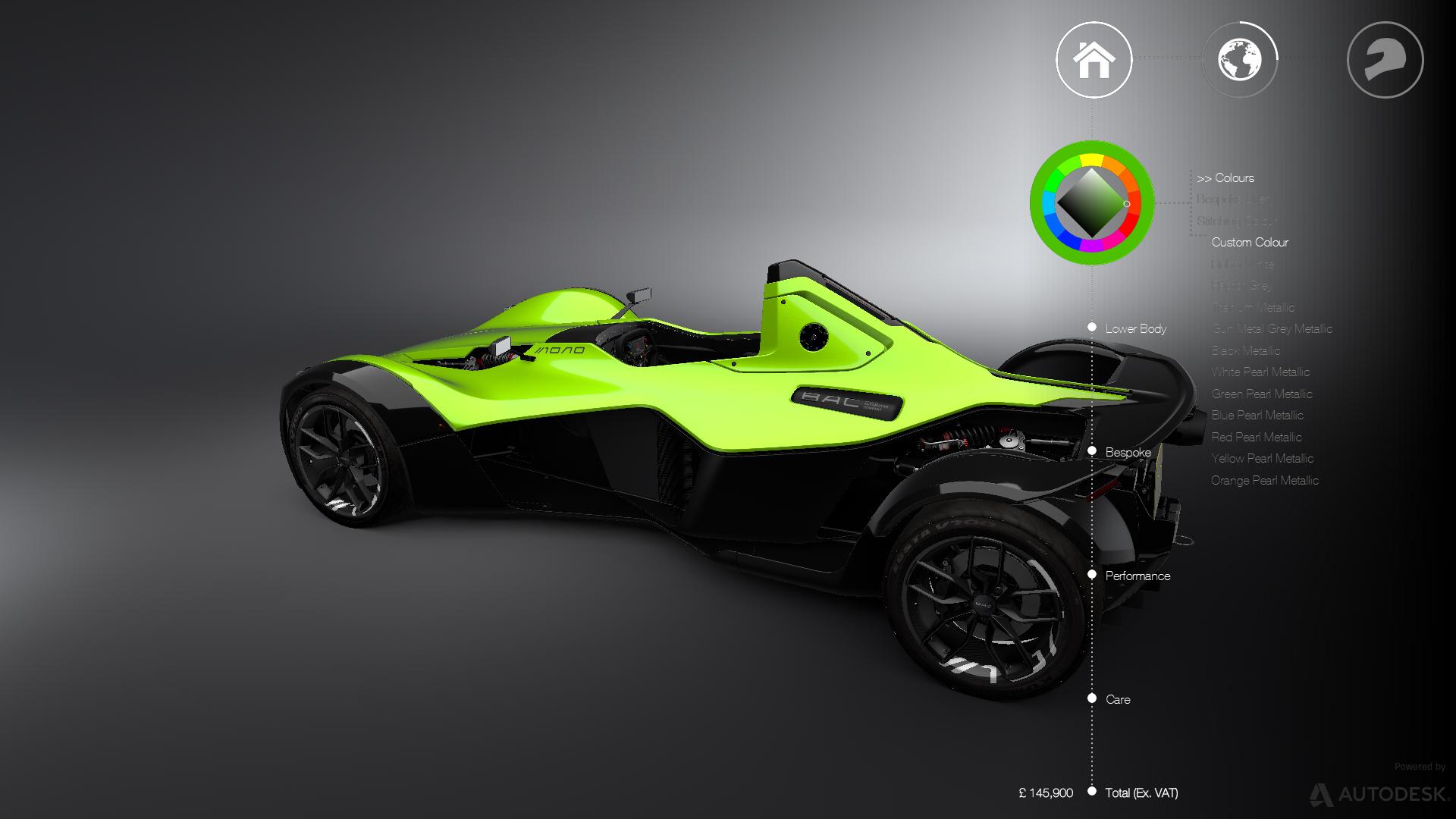 Autodesk VRED BAC MONO Configurator