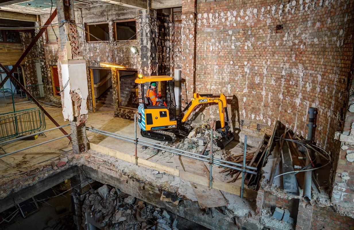 JCB electric mini excavator