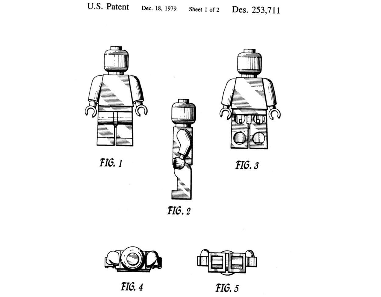 Lego Minifigure US patent