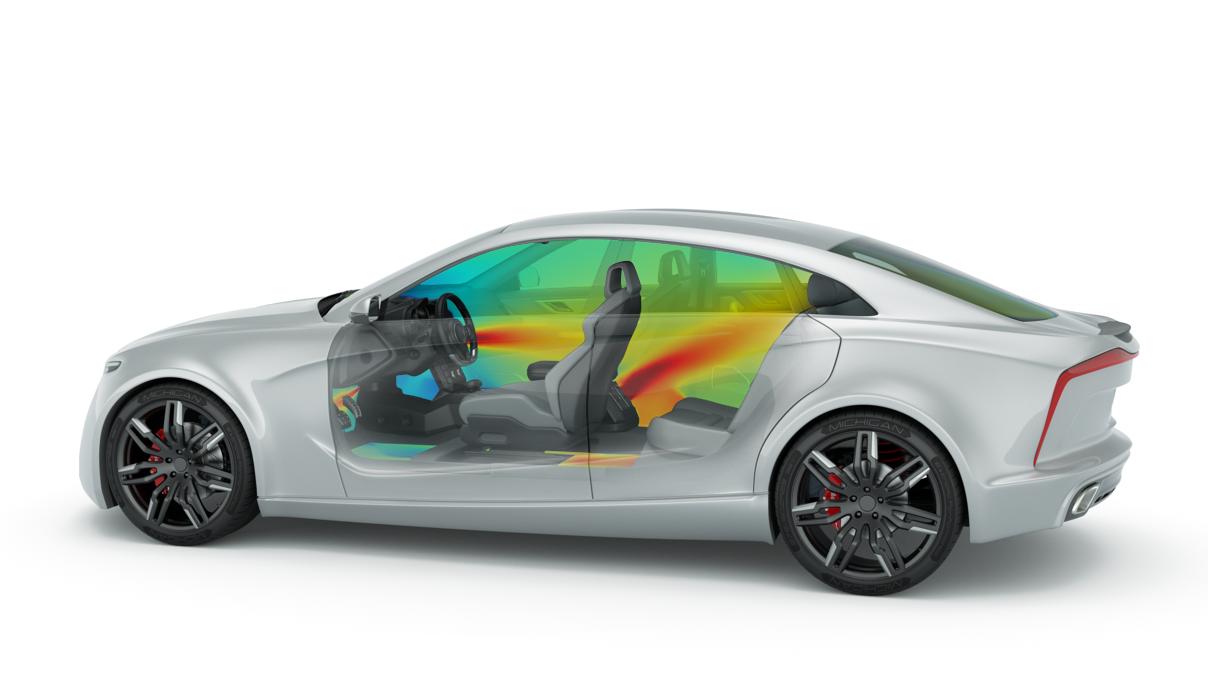 car cabin simulation altair