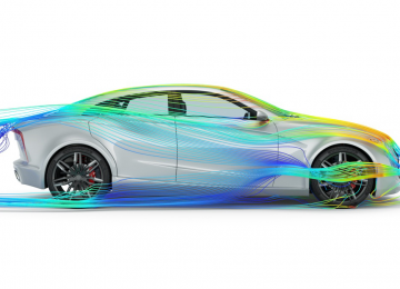 CFD flow lines over car