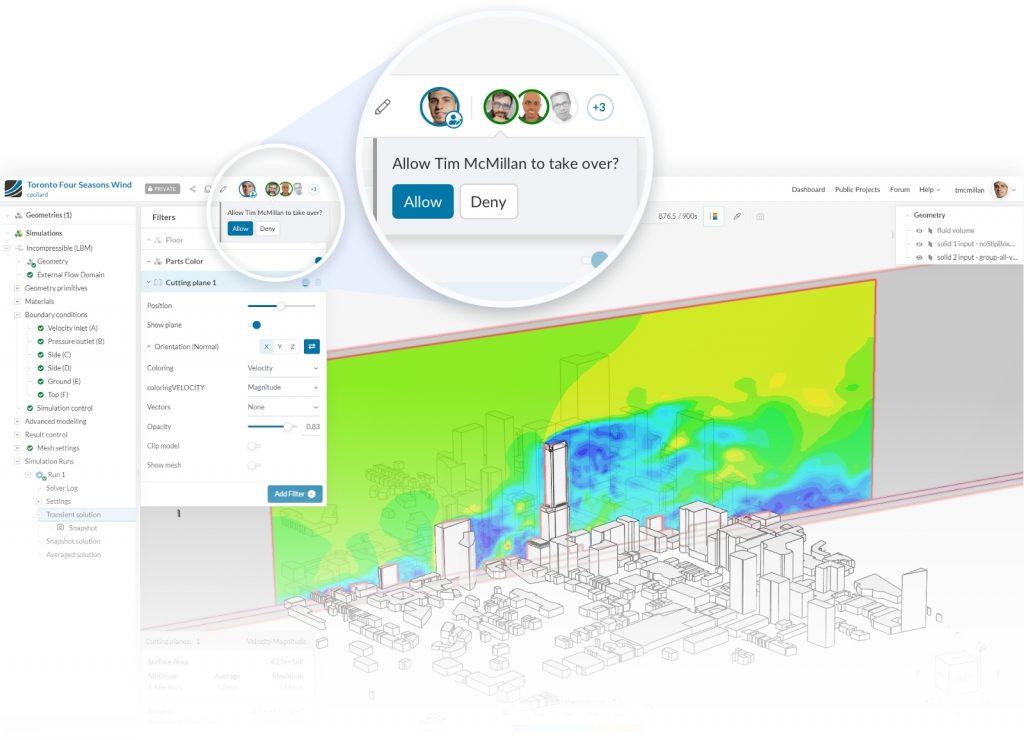 SimScale Collaboration settings CAE