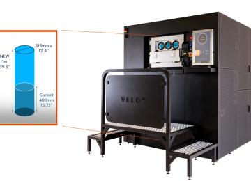 Velo3D Sapphire 1m build chamber