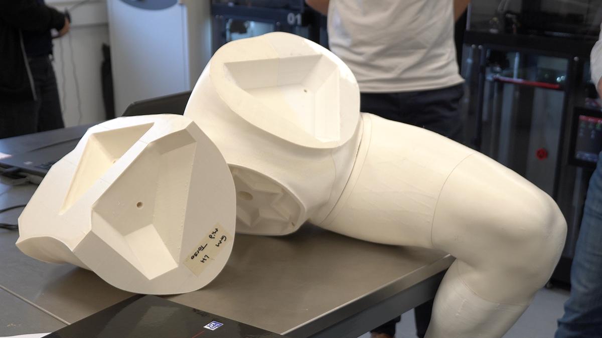 Vorteq 3D printed mannequin