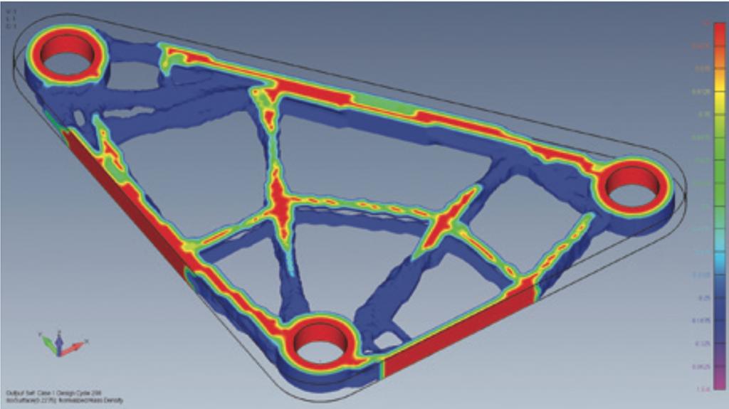 Simcenter Femap 2020.1 isosurface plot for topology optimised parts