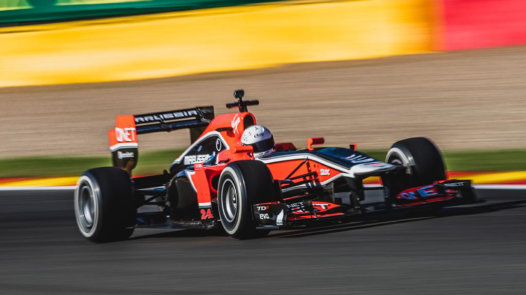 T3DMC F1 car on track