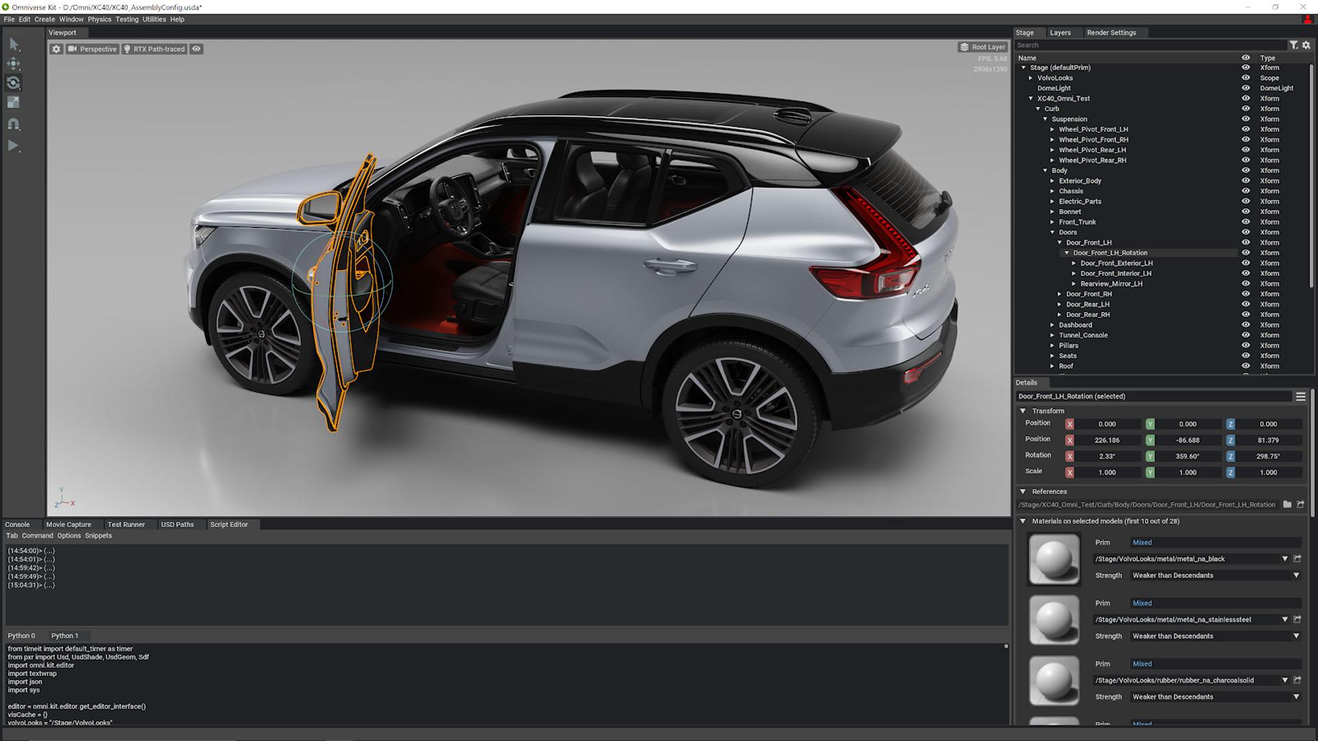 Nvidia Omniverse Volvo testing
