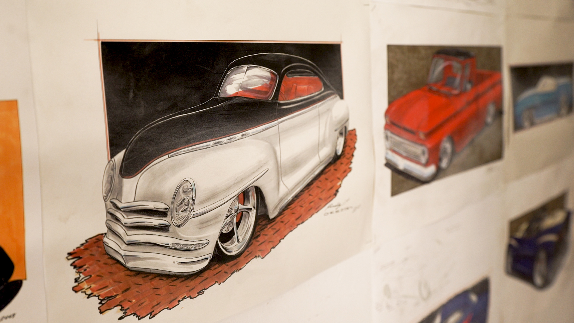 Dave Kindig artwork automotive