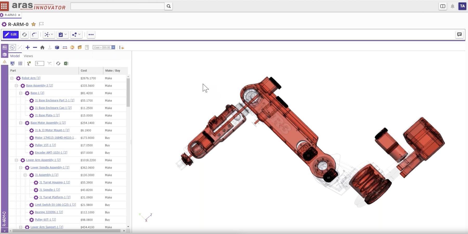 3D PLM data visualisation