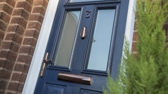 Brisant Front Door Rose Gold