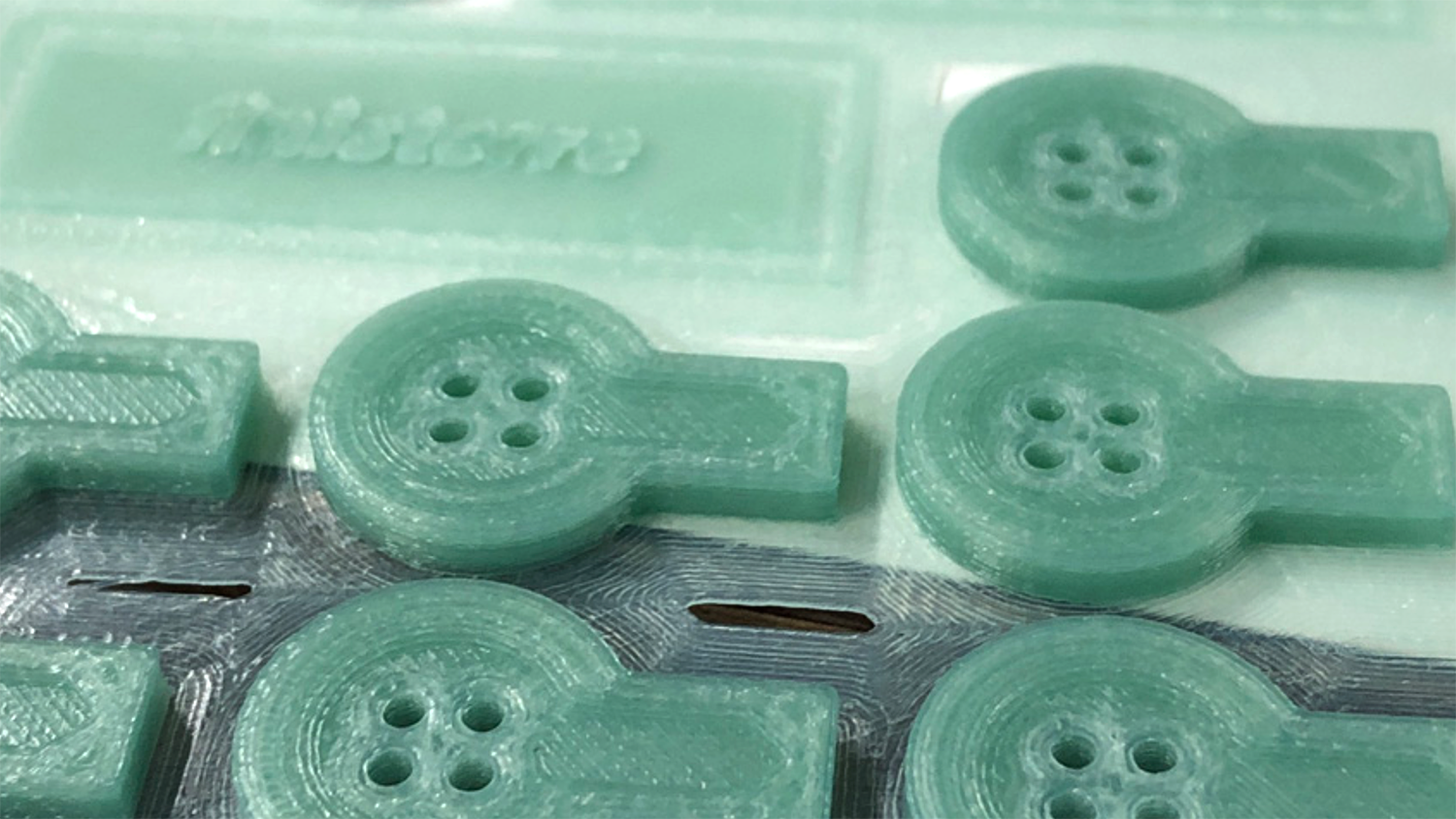 Marine Plastic nylon used to 3D Print buttons