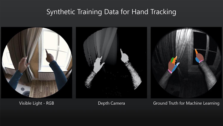 Microsoft Blender hand tracking AI