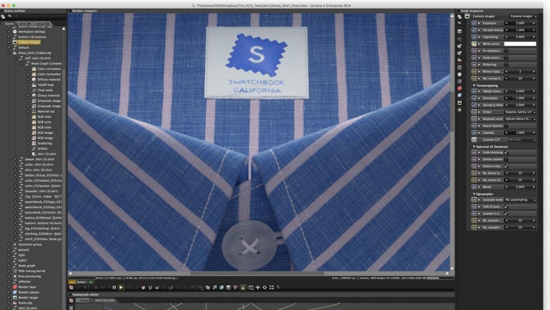 Octane X Mac OS swatchbook