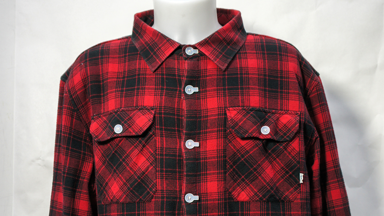 Marine Plastic buttons on Finisterre shirt