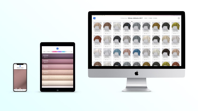 Swatchbook Bru Textiles fabric visualisation