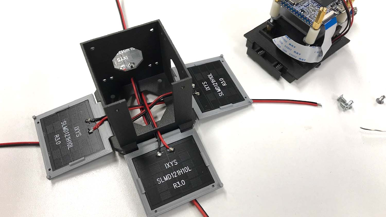 carbon reinforced nylon Mini-Cubes solar arrays