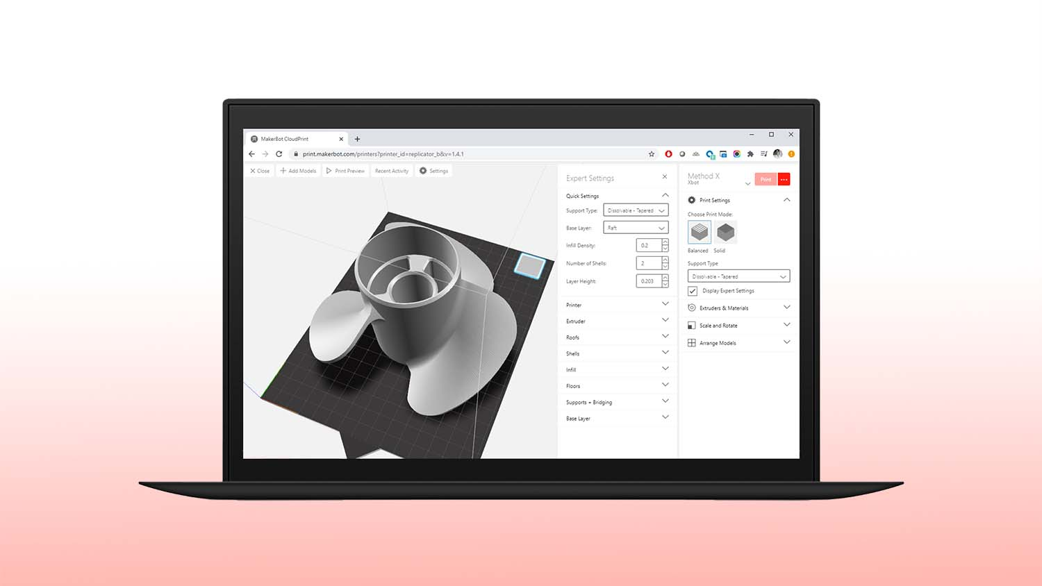 MakerBot CloudPrint User Interface