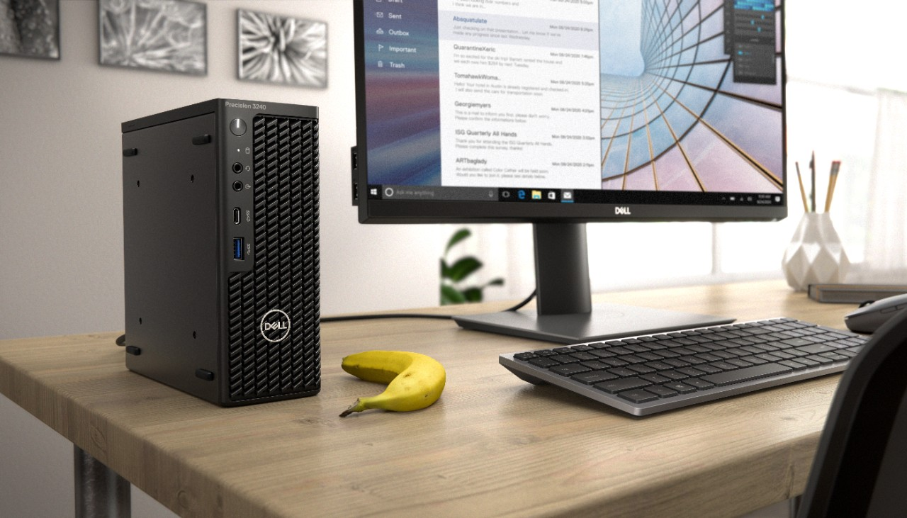 Dell Precision 3240 Compact HERO banana