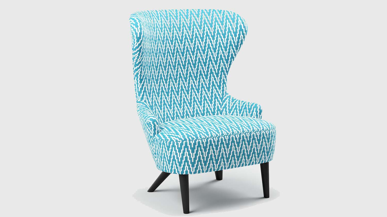 Bru digital textiles Hydro Wingback Chair