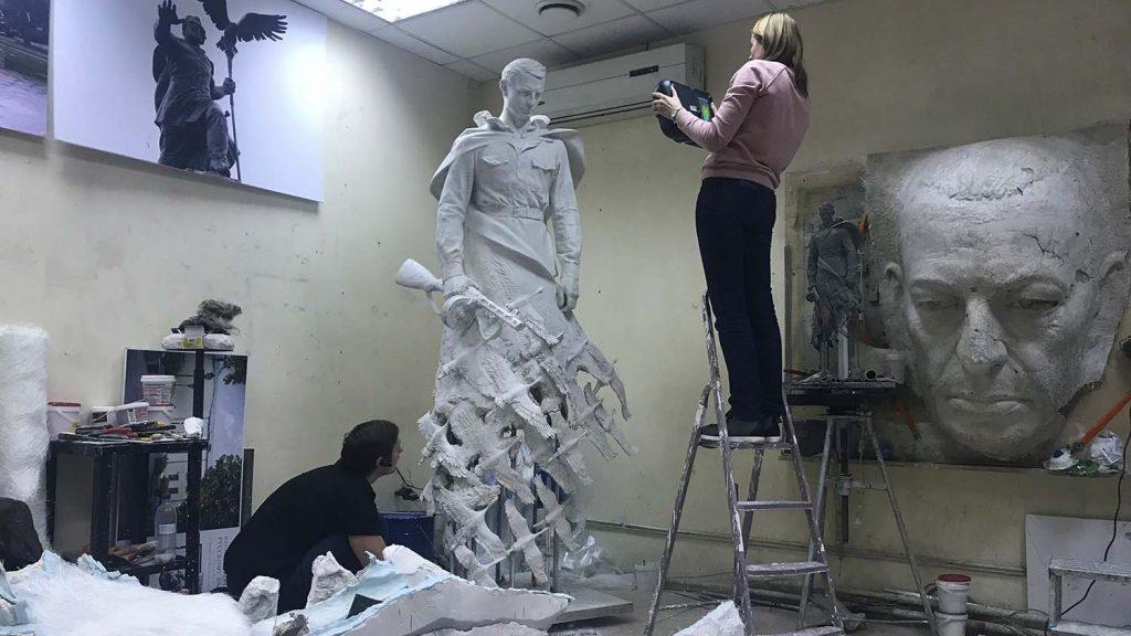 rzev memorial sculpture 3D scanning
