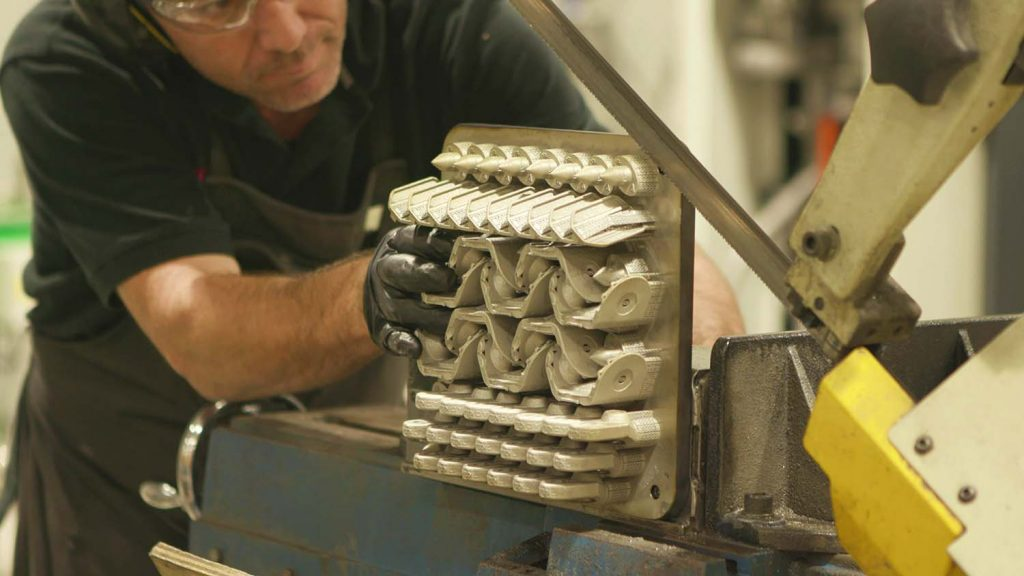ram3d AM parts on build plate
