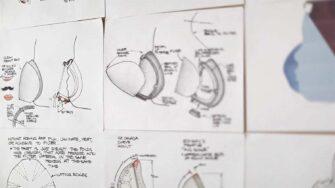 Respiratory mask for children sketches
