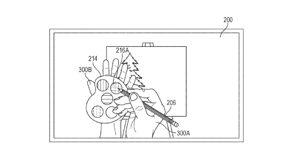 Apple virtual drawing patent