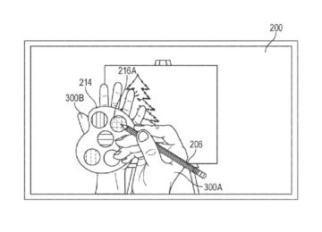Apple virtual drawing patent