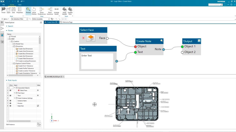 Siemens NX 2021 PMI creation