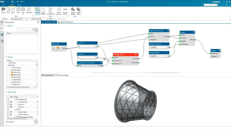 Siemens NX 2021 algorithmic modelling