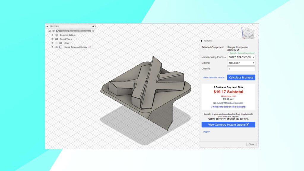 Xometry Fusion 360 App