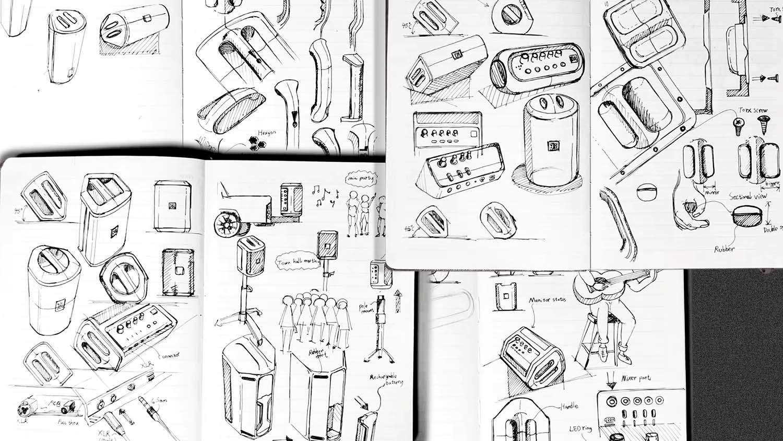 JBL product design Sketching & ideation