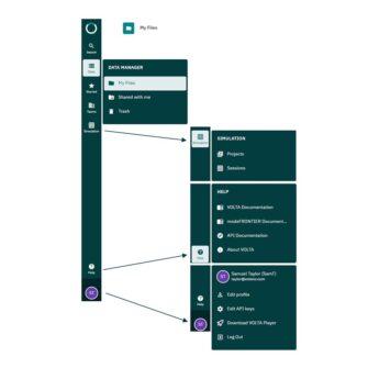 volta User interface