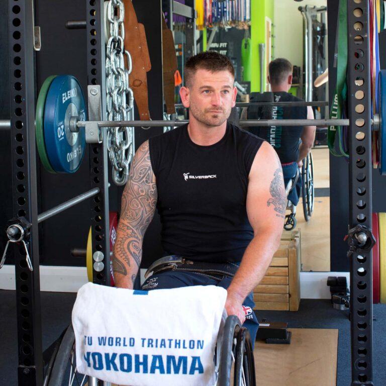 para-athletes Joe Townsend gym