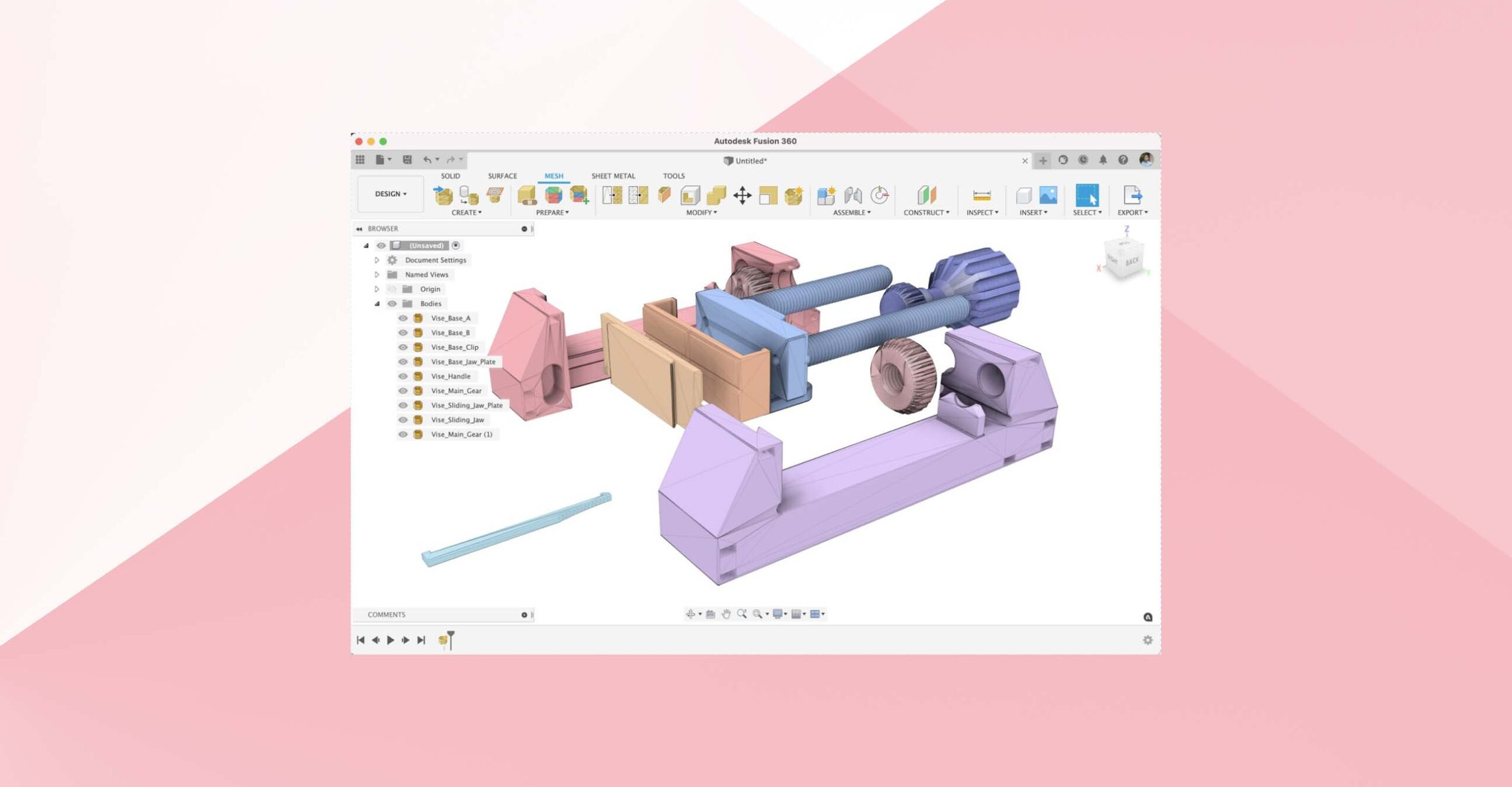 mesh environment in Fusion 360
