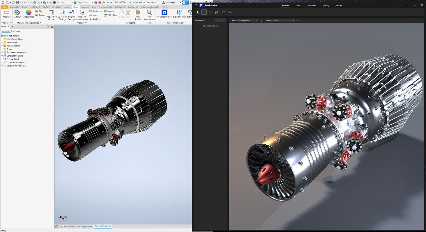 Radeon Pro Render for Inventor