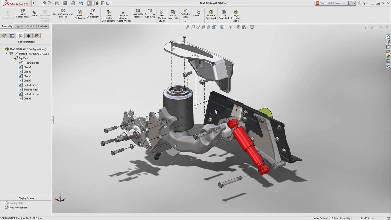 Solidworks 2022 exploded part